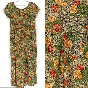 Vintage 1990's floral rayon romper jumpsuit